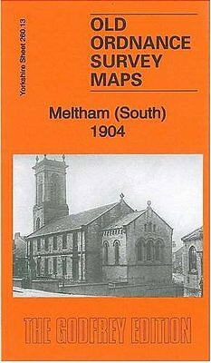 Old Ordnance Survey Map Of Meltham (South) 1904