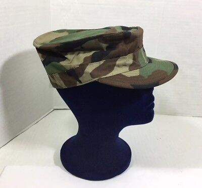 NWT Military Issue U.S. Army Surplus Camo Cap Hat Hot Weather Size 7 1/8