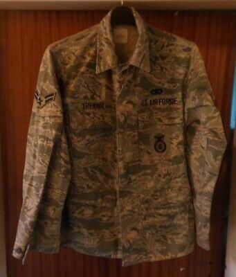 American Usaf Abu Tiger Stripe Camo Mens Shirt Jacket P&p Offer