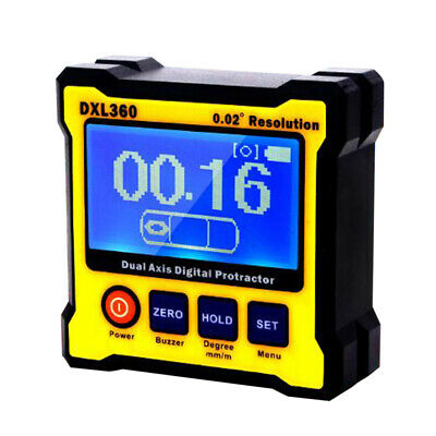 DXL360 Dual Axis Digital Angle Protractor Inclinometer Meter Level Box LCD