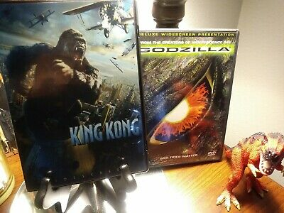 Godzilla & King Kong DVD Lot - Peter Jackson vs Roland Emmerich - not Biollante