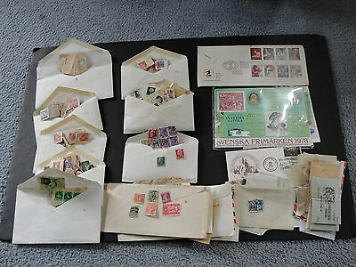 Vintage COLLECTION OF DIFFERENT WORLD WIDE STAMPS (1,100+), MANY THEMES-1900s.