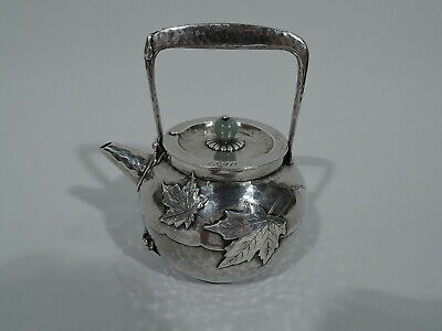 Tiffany Sake Pot - 5356 - Applied Hand Hammered Tea - American Sterling Silver