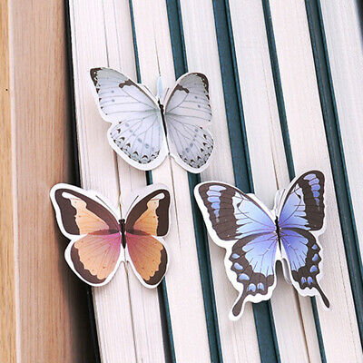 10pcs/set Paper Butterfly Flower Bookmarks Cute Bookmark Book Marker Stationery