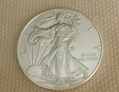 Lot of 3 -  2011  1 oz Silver American Eagle Coins