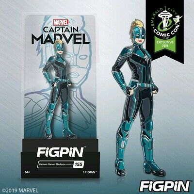 ECCC 2019 Exclusive Captain Marvel FigPin IN HAND