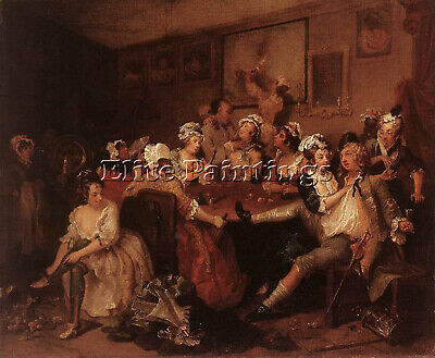 William Hogarth The Orgy Artist Painting Reproduction Handmade Canvas Repro Wall