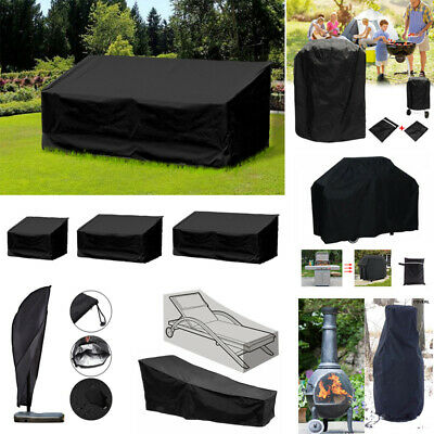 Weatherproof Garden Cover Patio Furniture Suit Chair Table Bbq Case With Cord Uk