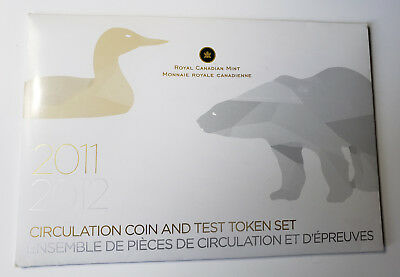 2011-2012 Circulation Coin And Token Test Set Canadian Mint Limited