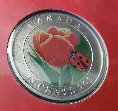 2011 Tulip And Ladybug Royal Canadian Mint Canada Coin