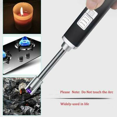 Electric Lighter Arc Plasma Kitchen Camping Cook BBQ Firework USB Rechargeable