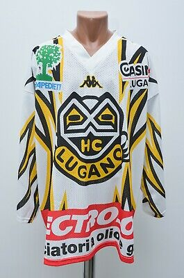 Lugano Switzerland 1990's Ice Hockey Shirt Jersey Kappa Vintage Size Xl