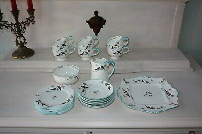 Paragon China Kaffee Service Top Zustand Art Deco ? Vintage 21 Teile