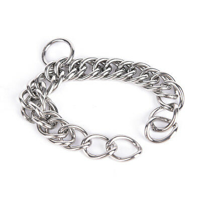 1pc stainless steel double link curb chain for horse bits pet LE