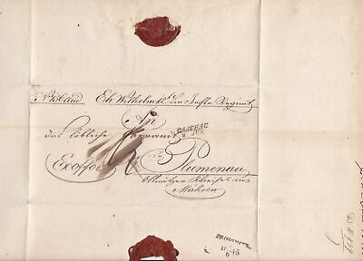 Austrian Kuk 1845 Military Letter Report Stamps Cover ref 22363