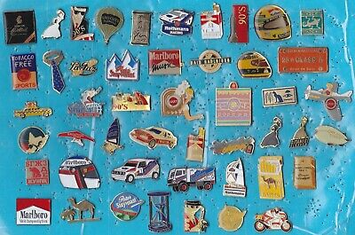 Lot De 48 Pin's Tabac Cigarette Tobacco Smoking Camel Gitanes Marlboro Etc ++