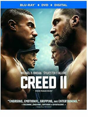 Creed 2 ( Blu-ray /DVD/ Digital ) with Slipcover- Brand New & Sealed- STEF-400