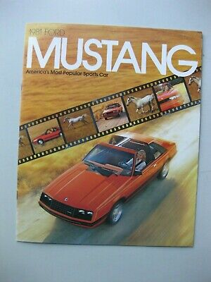Ford Mustang brochure Prospekt English text 16 pages 1981