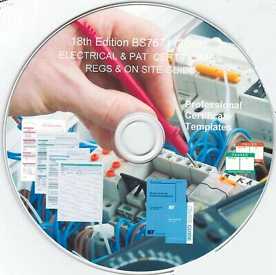 18th Edition (BS7671) Regs, Certs, & Onsite Guide..CD-ROM