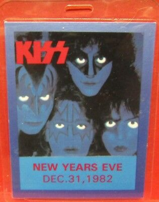 Kiss Laminated  Backstage Pass Creatures Of The Night New Years Eve 12-31-1982