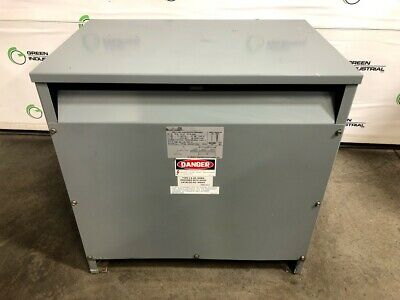 USED DRY TYPE Transformer 75 KVA 480 Delta 240 Delta SQUARE D 75T6H TESTED  CLEAN