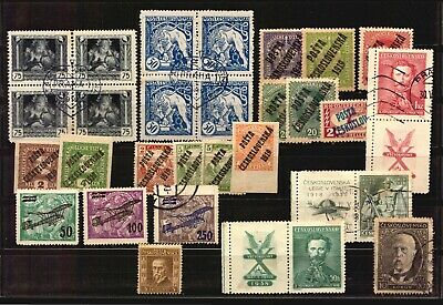 Czechoslovakia used stamps collection lot very old early stamps EURO190