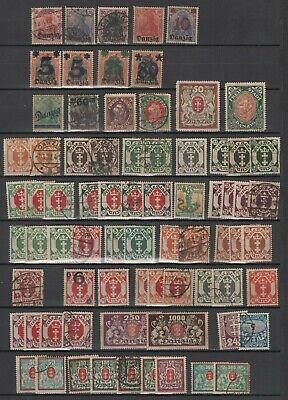 Germany Freie Stadt Danzig used and mint stamp collection lot very interesting