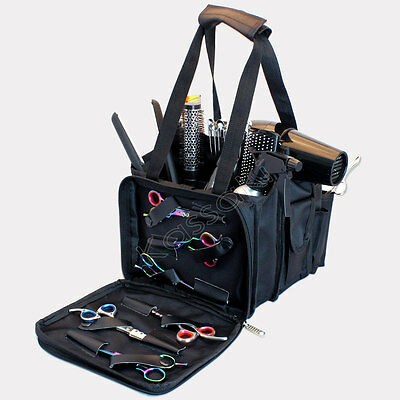 Hairdressing Session Kit Bag Storage Barber Hair Salon Equipment Tool Case Black