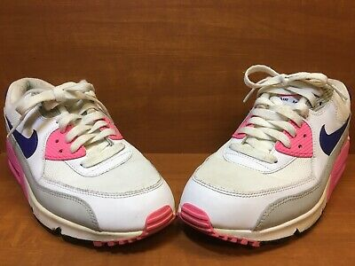 sports shoes bf01e 321d6 Nike AIR MAX 90 Essential White Concord Grey Pink 616730-104 Women s