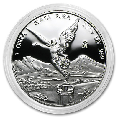 2019 Mexico Libertad 1 oz Silver PRE-SALE Round Limited Capsuled Proof Coin