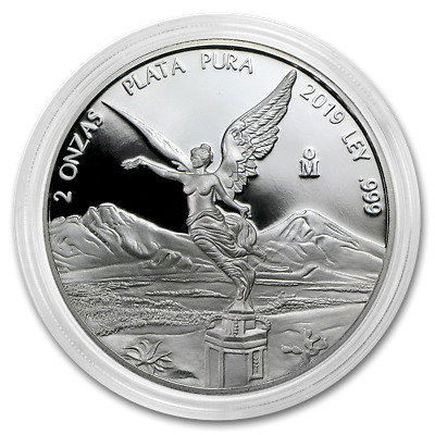 2019 Mexico Libertad 2 oz Silver Limited Round PRE-SALE Capsuled Proof Coin