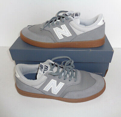 befd3d72fed8 New Balance Mens Grey Leather Retro Lace Up Trainers Shoes Lace Up New Size  7
