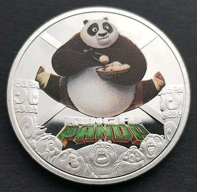 The Movies *KUNG FU PANDA 3* Commemorative Coin FREE COIN STAND AND BRAND NEW FI