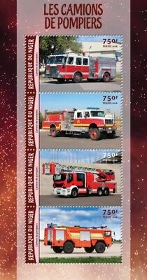 Niger 2016 Sheet Mnh Fire Engines Camions De Pompiers Fire Trucks 2