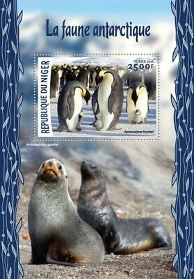 Niger 2016 Sheet Mnh Antarctic Wildlife Faune Antarctique Sea Lions Penguins 2A
