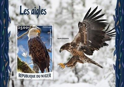 Niger 2016 Sheet Mnh Eagles Aigles Aguilas Adlern Aquile Birds Of Prey 2A