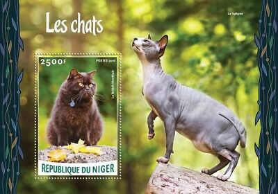 Niger 2016 Sheet Mnh Cats Chats Gatos Katzen Gatti 2A