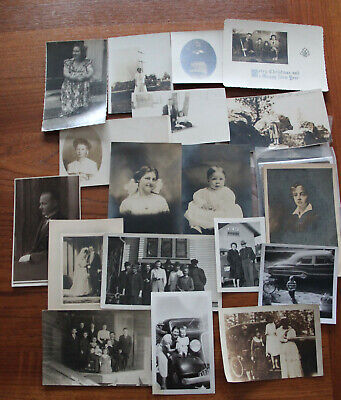 Vintage Real Photo Postcards & Photos – (24) Early 1900-1930s