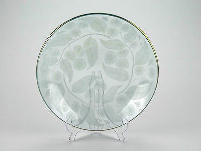 Michael Harris, Chance Brothers 'Calypto' pattern 1950s glass bowl. Curving leaf