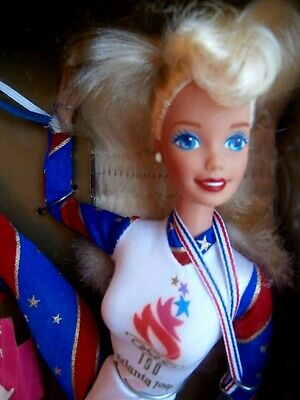 Vintage Mattel Gymnast Barbie Doll- Officially Licensed For The Atlanta Olympics