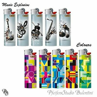 Bic Maxi J26 Lighter with Flint Music / Colours Limited Special Edition