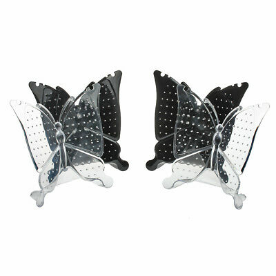 4 pcs Black White Butterfly Display Stand Holder for Necklace Earrings Stud Hot