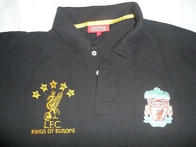 af36e8f8f Liverpool Football Club Official Soccer Black Men s Crest Polo Shirt Size  Large