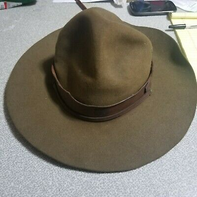 4190c577a294f RARE VINTAGE OFFICIAL Boy Scouts Of America Scout Master Stetson Hat ...