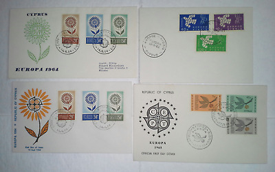 CYPRUS 1960s CEPT & Europa Cacheted FDC Group