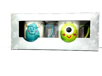 NEW Disney Parks Monsters Inc Mike Sulley Ceramic Coffee Mug Cup Set Rare