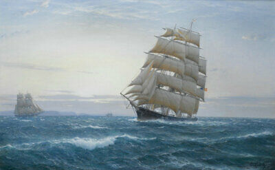 Best gift Art Wall Home Decor Seascape Ship Sailing print Oil painting on canvas