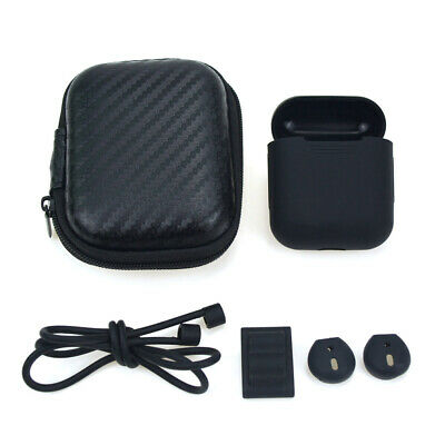 5PCS/Set Silicone Storage Carrying Case Box Strap + Earbuds For AirPods Access