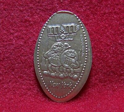 M&Ms World New York Red & Yellow as Tourists Cu/copper elongated penny