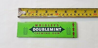 Vintage Wrigley's Doublemint Chewing Gum Shop Display Advertising Strip
